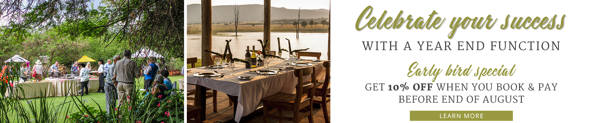 Rustenburg Year End Functions at Kedar Heritage Lodge in the North West, Accommodation in Rustenburg